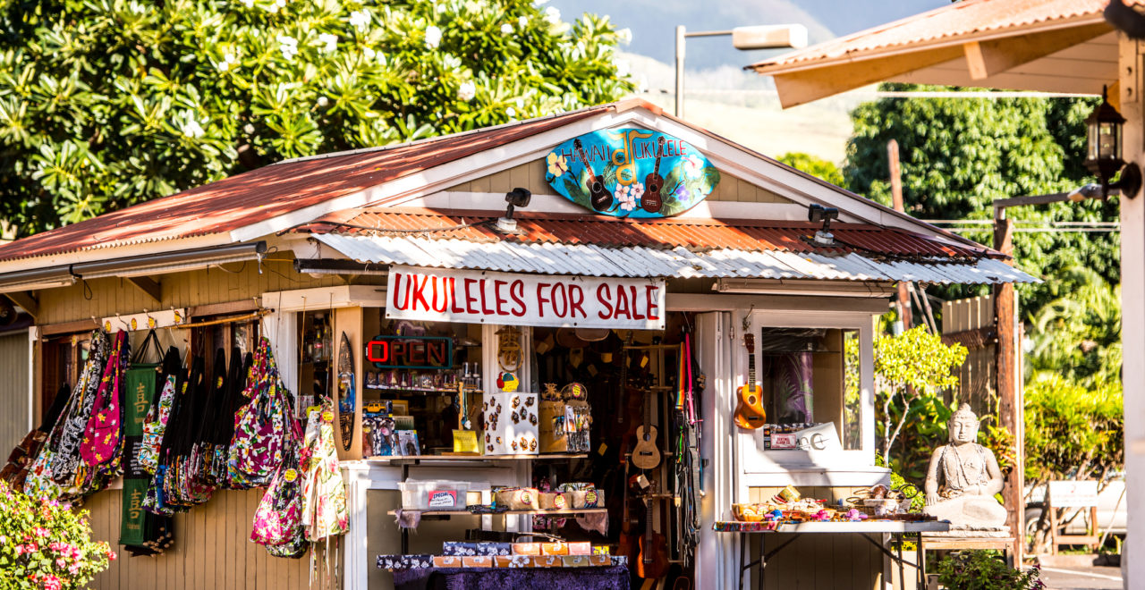 Hawaiian Gift Shop in Lahaina, Maui, USA, Hawaii