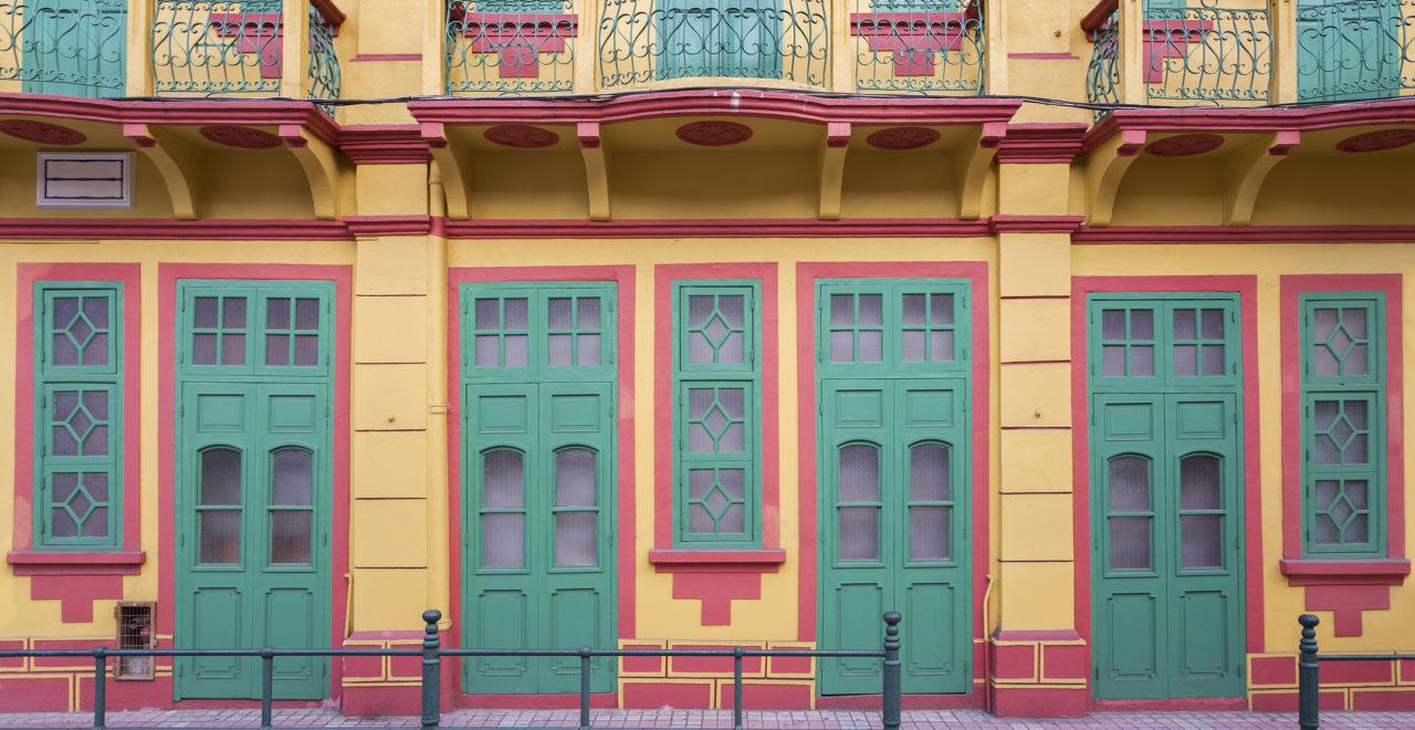 Historical building in Macau, Macao, Kina