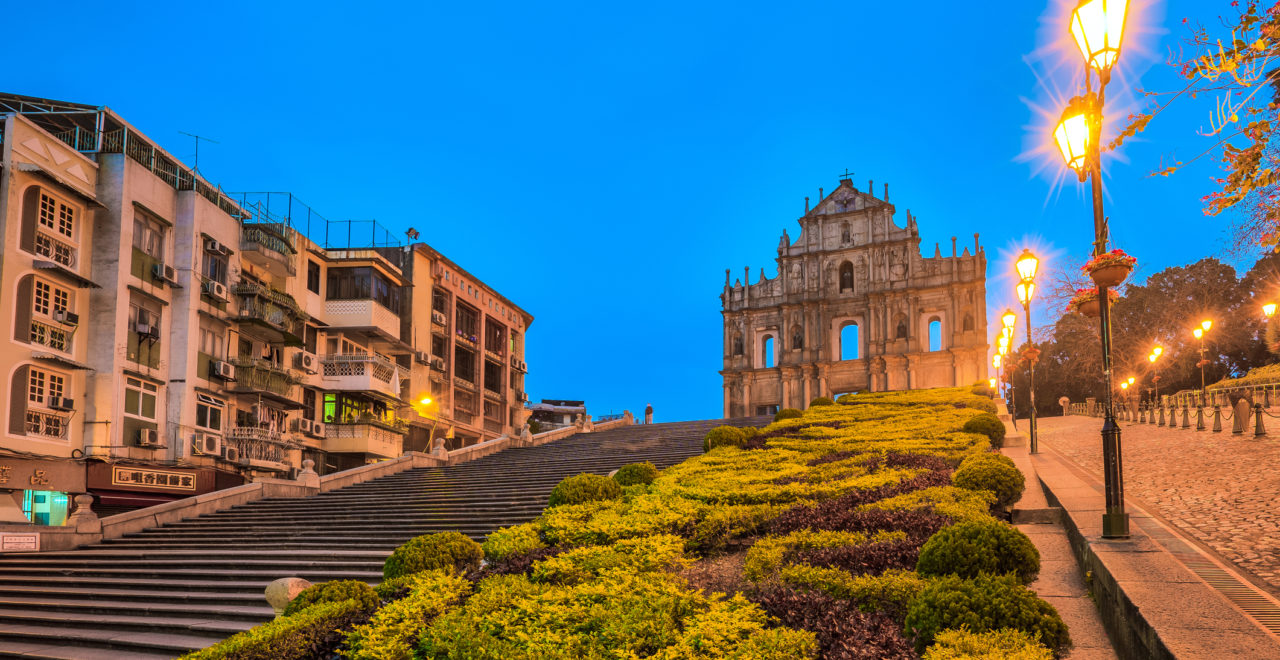 The Ruins of St. Paul's in Macau, Macao, Kina