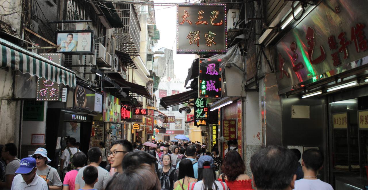 Busy Streets of Macau, Macao, Kina
