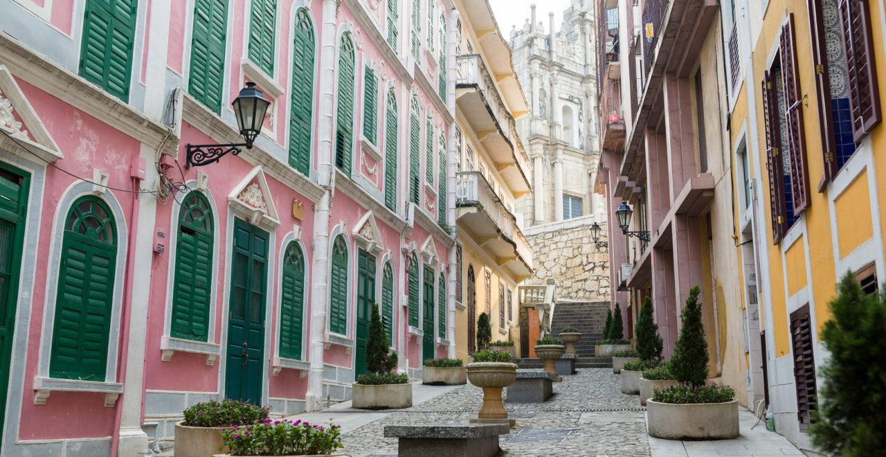 Macao old town, Hong Kong, Kina