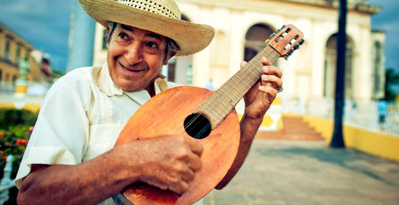 Cuba, Trinidad, musiker, mandolin