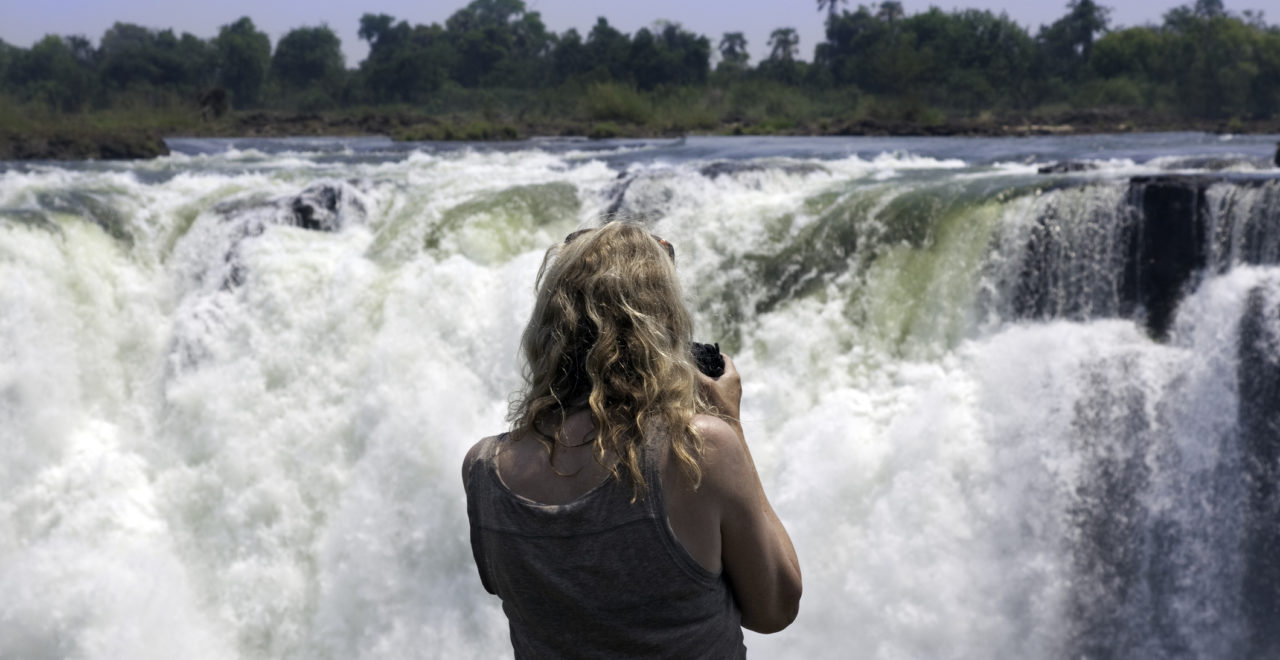 Victoria Falls, Zambezi, River, Zambia, Zimbabezi