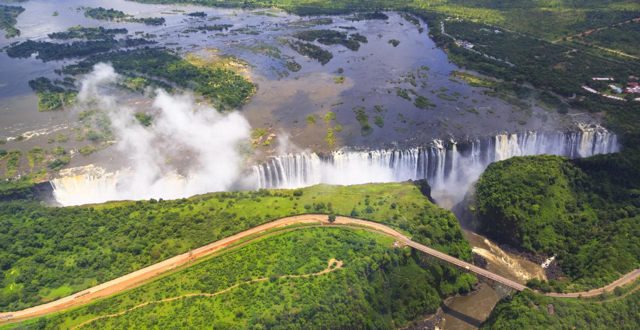 Victoria Falls, Zambezi, River, Zambia, Zimbabwe