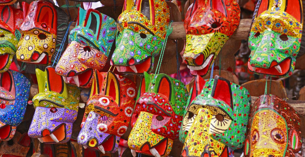 Chichicastenango Guatemala marked masker