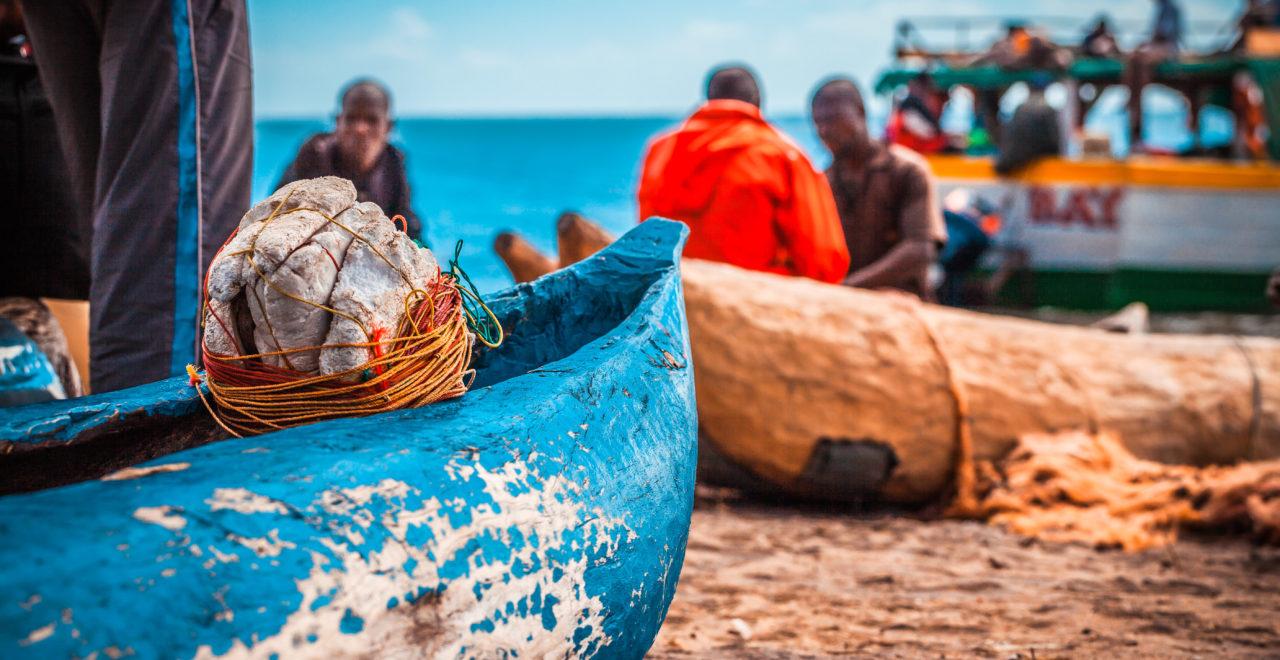 Malawi, fiskere, båt
