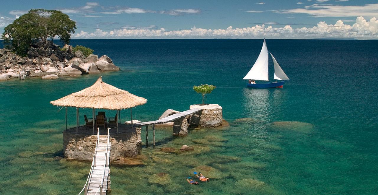 Lake Malawi, båt, svømme