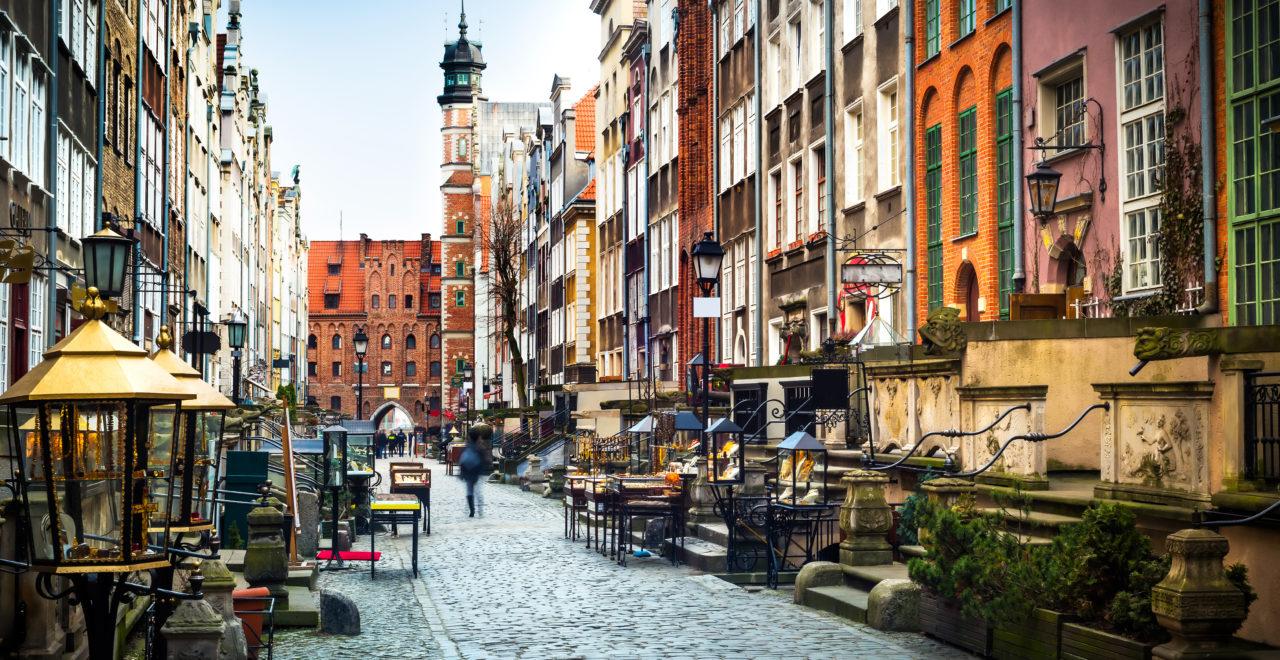 Mariacka street, Gdansk, Polen