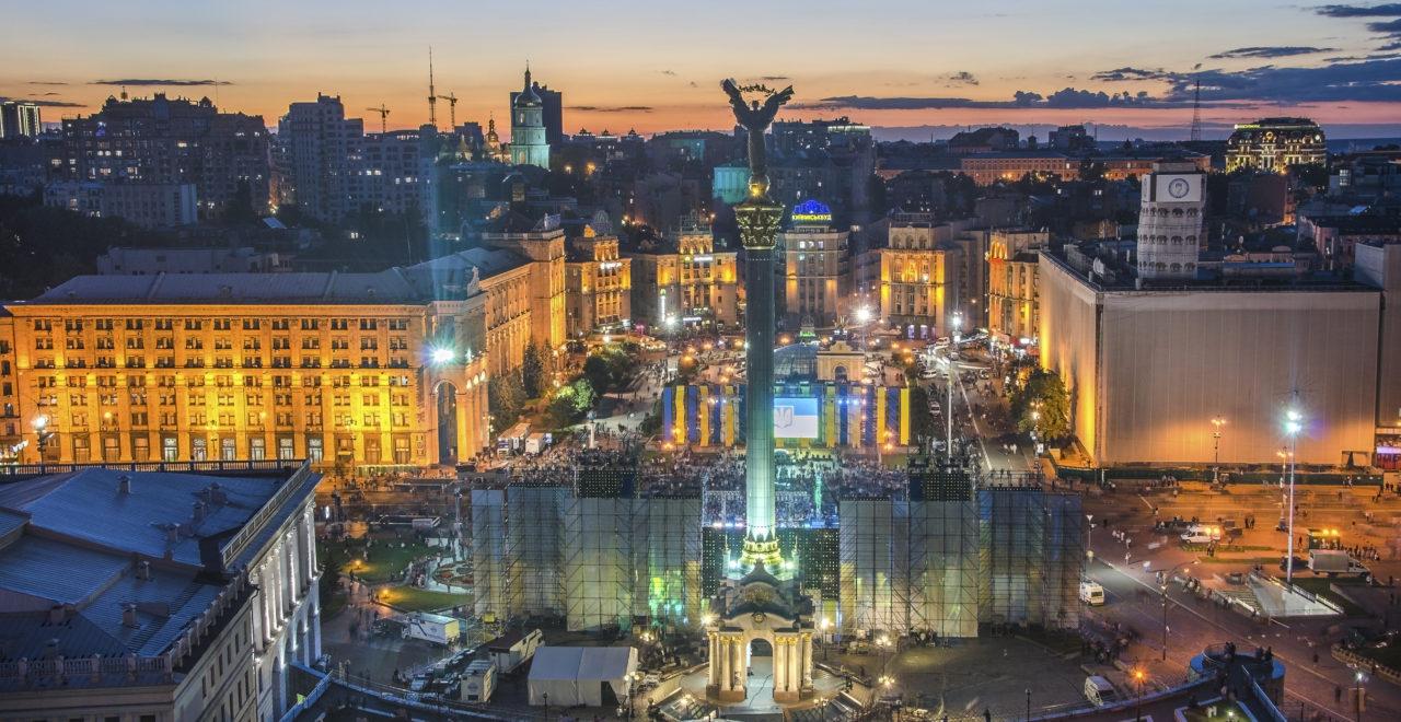 Ukraina, Kiev, Uavhengighetsplassen, Independence Square, Maidan Nezalezhnosti
