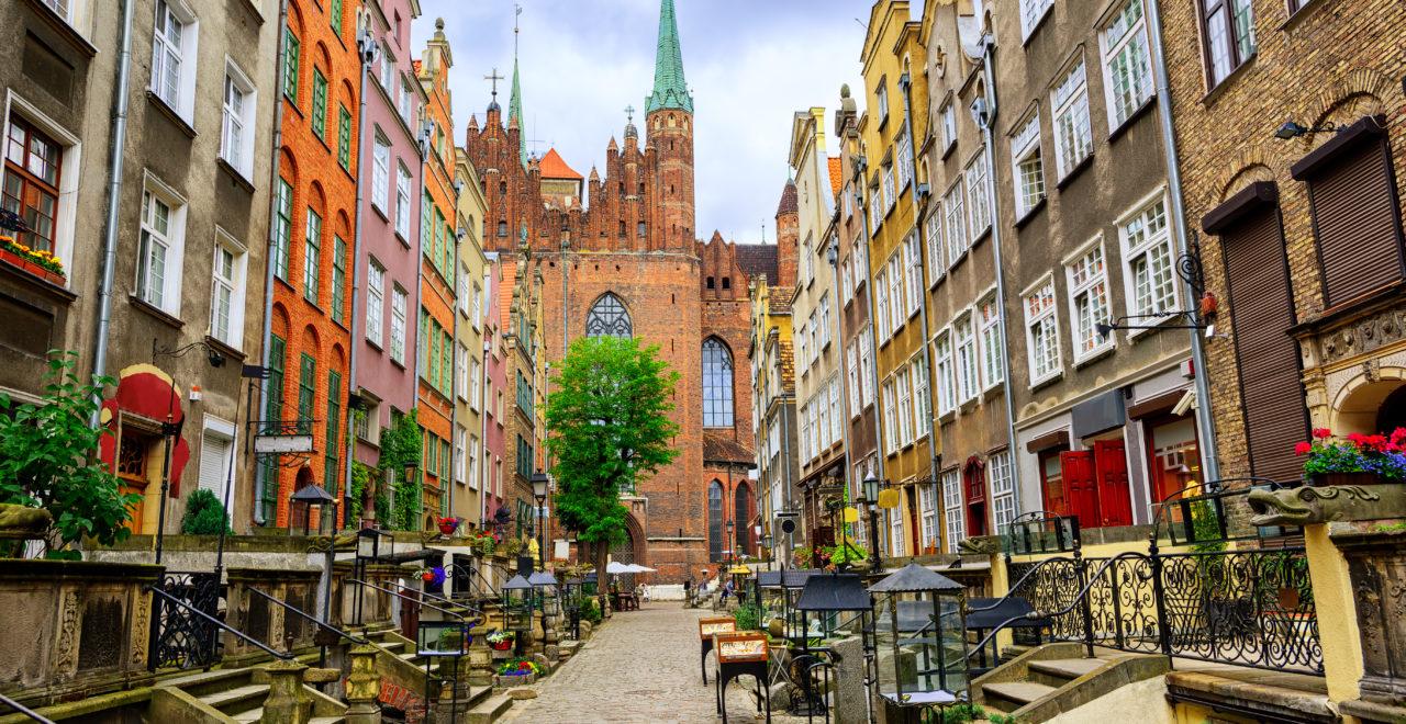 Polen, Gdansk, Mariacka street, gamlebyen