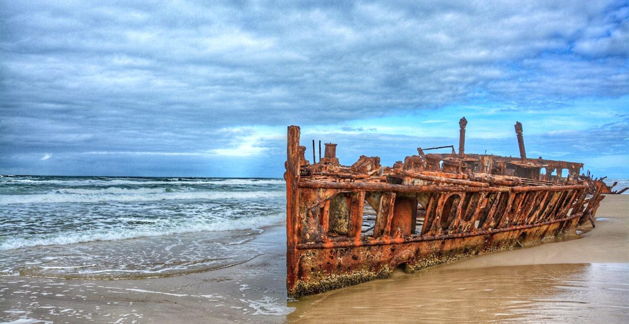 Maheno skipsvrak, Fraser Island, Australia