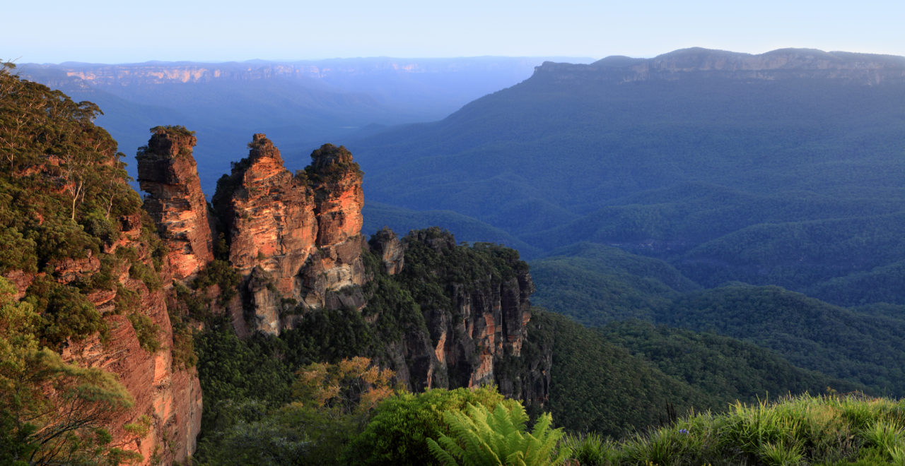 Australia, New South Wales, Katoomba, Three Sisters, Blue Mountains, tre søstre