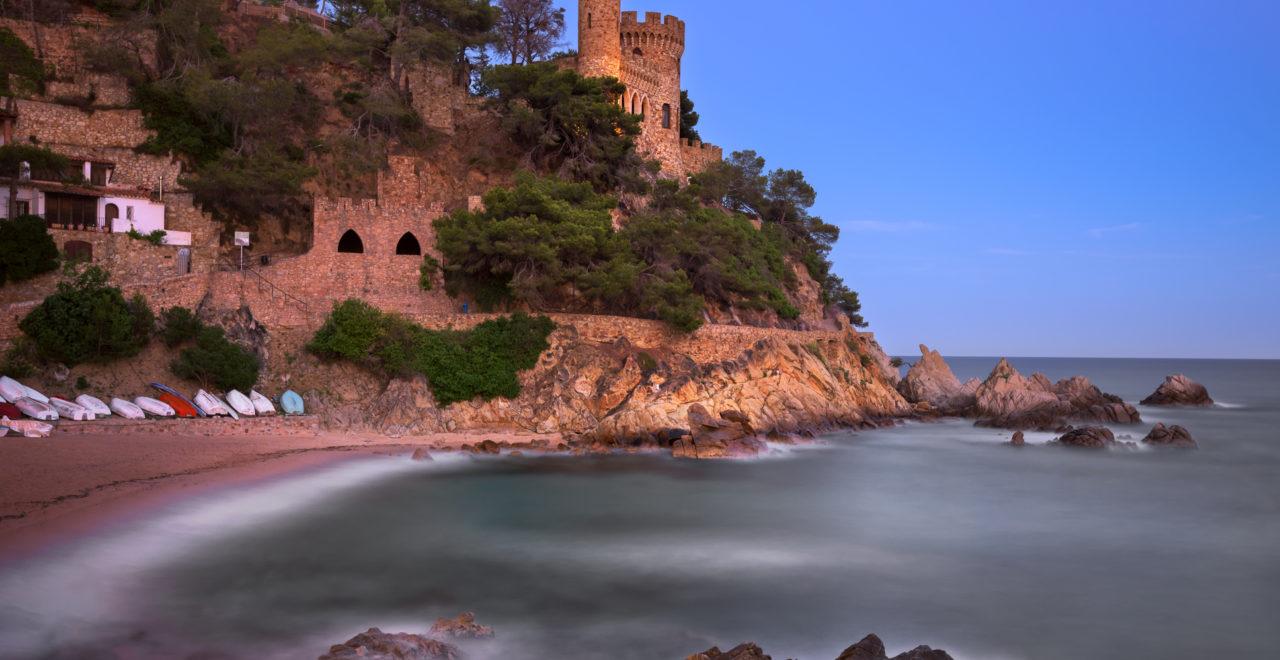 Kajakk Costa Brava Catalonia Spania Lloret De Mar Beach