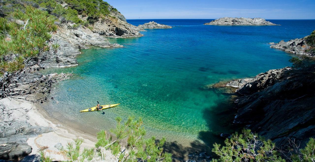 Platja Castel Kajakk_Costa Brava Spania