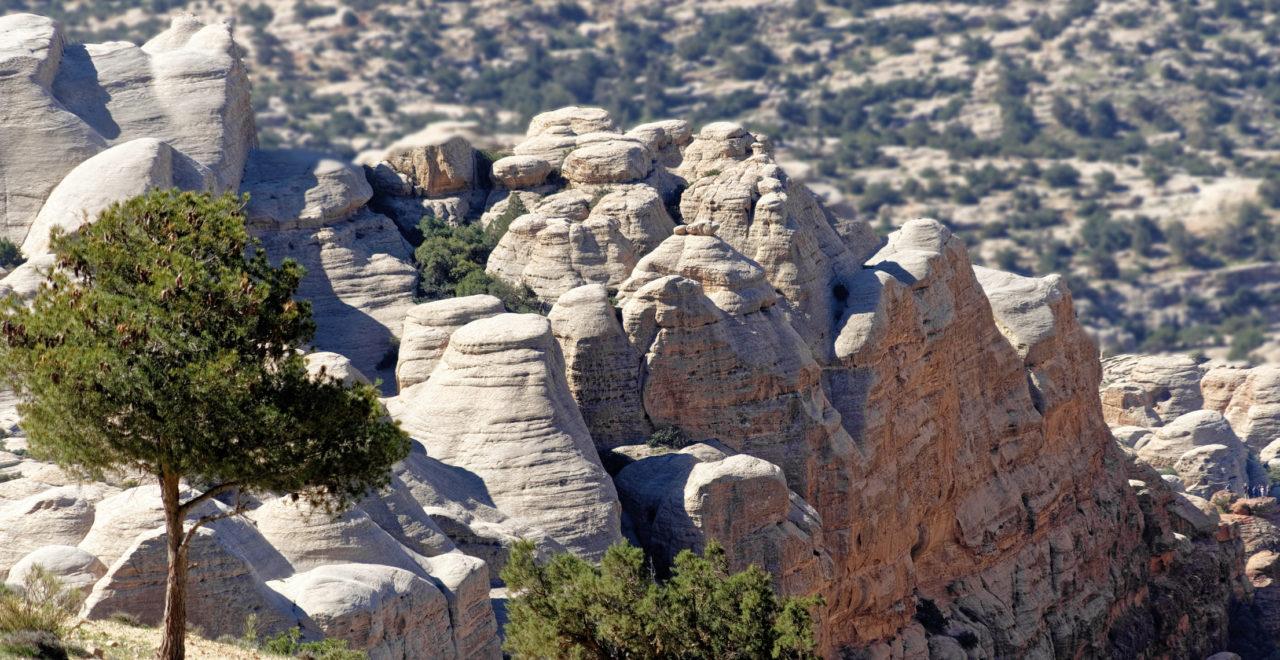 Sandsteinsklipper Jordan