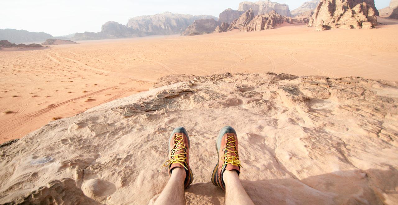 Hiking in Wadi Rum, Jordan