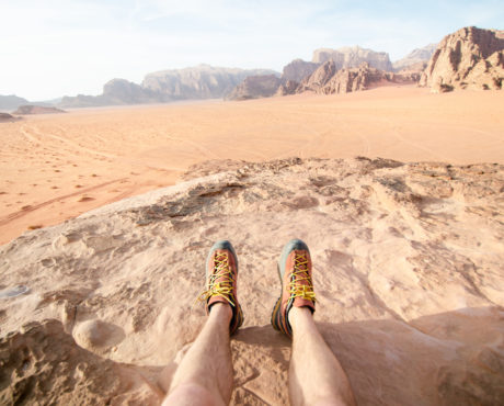 Hiking in Wadi Rum, Jordan